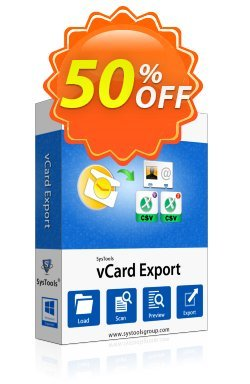 SysTools vCard Export - Business License Coupon discount SysTools Summer Sale. Promotion: