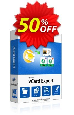 SysTools vCard Export - Enterprise License Coupon discount SysTools Summer Sale -