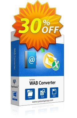 WAB Converter - Personal License Coupon, discount SysTools coupon 36906. Promotion: