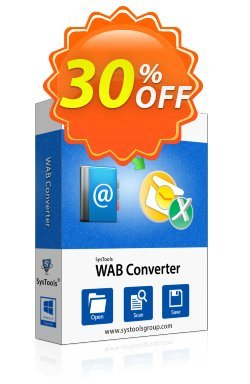 WAB Converter - Enterprise License Coupon, discount SysTools coupon 36906. Promotion: