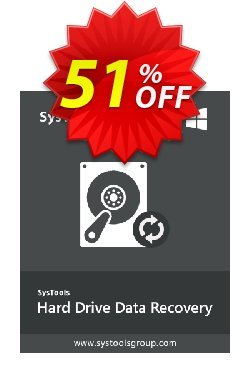 Hard Drive Data Recovery - Personal License Coupon, discount SysTools coupon 36906. Promotion: