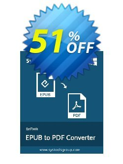 SysTools EPUB to PDF Converter Coupon discount 50% OFF SysTools EPUB to PDF Converter , verified - Awful sales code of SysTools EPUB to PDF Converter , tested & approved