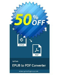EPUB to PDF Converter - Business License Coupon, discount SysTools coupon 36906. Promotion: