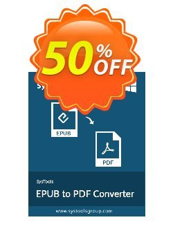 EPUB to PDF Converter - Enterprise License Coupon, discount SysTools coupon 36906. Promotion: