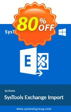 Exchange Import - Upto 50 Users License Coupon, discount SysTools Summer Sale. Promotion: