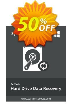 SysTools Hard Drive Data Recovery - Enterprise  Coupon discount SysTools coupon 36906. Promotion: