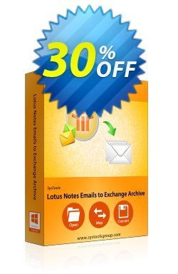 SysTools Lotus Notes Emails to Exchange Archive Coupon discount SysTools Summer Sale -
