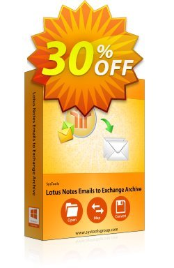 Lotus Notes Emails to Exchange Archive - Site License Coupon discount SysTools Summer Sale. Promotion: