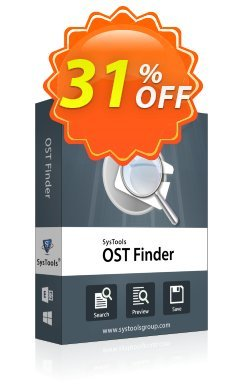 SysTools Outlook OST Finder Coupon discount SysTools coupon 36906 -
