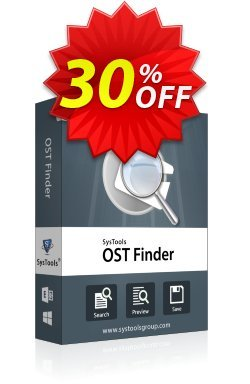 SysTools Outlook OST Finder - Business License  Coupon discount SysTools coupon 36906. Promotion: