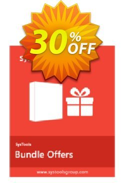 Bundle Offer - Outlook PST Finder + PST Merge + Split PST - Business License  Coupon discount SysTools coupon 36906. Promotion:
