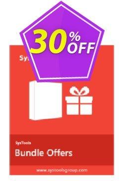 Bundle Offer - Outlook PST Finder + PST Merge + Split PST - Enterprise License  Coupon discount SysTools coupon 36906. Promotion: