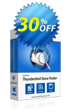 SysTools Thunderbird Store Finder - Business  Coupon discount SysTools coupon 36906 -