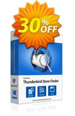 SysTools Thunderbird Store Finder - Enterprise  Coupon discount SysTools coupon 36906 -