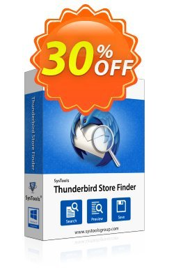 SysTools Thunderbird Store Finder - Enterprise  Coupon discount SysTools coupon 36906. Promotion: