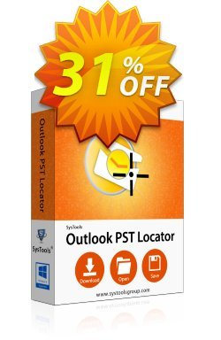 SysTools Outlook PST Locator Coupon discount SysTools Summer Sale -
