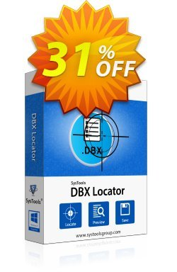 SysTools DBX Locator Coupon discount SysTools Summer Sale -