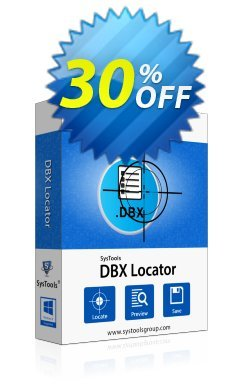 SysTools DBX Locator - Business License  Coupon discount SysTools coupon 36906. Promotion: