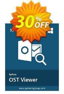 SysTools OST Viewer Pro Coupon discount SysTools Summer Sale. Promotion: