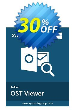 SysTools OST Viewer Pro - 10 Users  Coupon discount SysTools coupon 36906 -