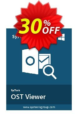 SysTools OST Viewer Pro - 100 Users  Coupon discount SysTools coupon 36906 -