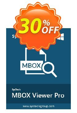 MBOX Viewer Pro - 10 User License  Coupon discount SysTools coupon 36906 -