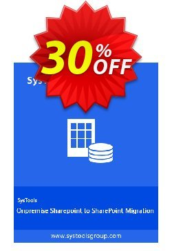SharePoint Organiser - Personal License Coupon, discount SysTools coupon 36906. Promotion: