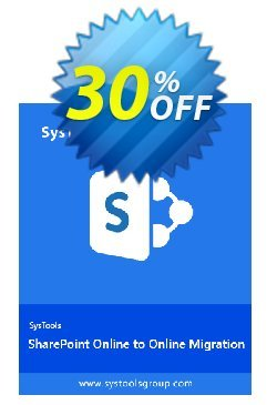 SharePoint Organiser - Enterprise License Coupon, discount SysTools coupon 36906. Promotion:
