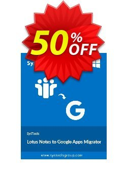 Lotus Notes to Google Apps -  25 Users License Coupon discount SysTools Summer Sale -