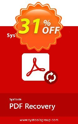 SysTools PDF Recovery Coupon, discount SysTools Summer Sale. Promotion: