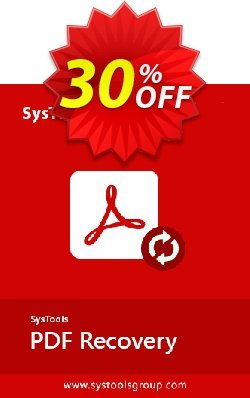 SysTools PDF Recovery - Business License  Coupon, discount SysTools Summer Sale. Promotion: