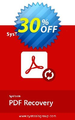 SysTools PDF Recovery - Enterprise License  Coupon, discount SysTools Summer Sale. Promotion: