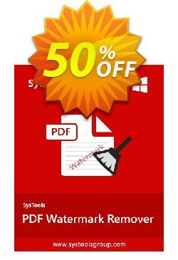 PDF Watermark Remover - Enterprise License Coupon, discount SysTools coupon 36906. Promotion: