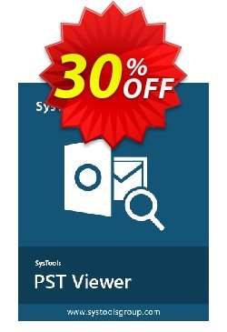 SysTools Outlook PST Viewer Pro - 50 Users  Coupon discount SysTools coupon 36906 -