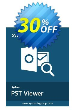 SysTools Outlook PST Viewer Pro - 100 Users  Coupon discount SysTools coupon 36906. Promotion:
