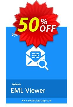 SysTools EML Viewer Pro - 50 Users  Coupon, discount SysTools coupon 36906. Promotion: