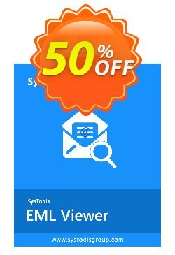 SysTools EML Viewer Pro - 25 Users  Coupon, discount SysTools coupon 36906. Promotion:
