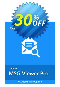 SysTools MSG Viewer Pro Coupon discount SysTools Summer Sale -