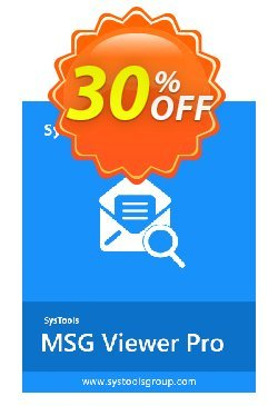 SysTool MSG Viewer Pro - 25 Users  Coupon discount SysTools coupon 36906. Promotion: