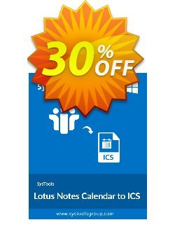 SysTools Lotus Notes Calendars to iCalendar .ICS - Enterprise  Coupon discount SysTools coupon 36906 -