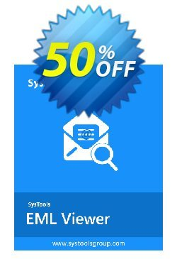 SysTools EML Viewer Pro - Single User  Coupon, discount SysTools coupon 36906. Promotion: