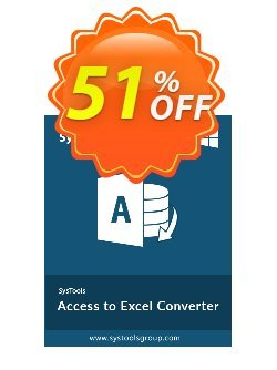 SysTools Access to Excel - Business License  Coupon discount SysTools coupon 36906 -