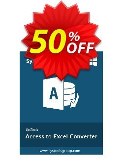 SysTools Access to Excel - Enterprise License  Coupon discount SysTools coupon 36906. Promotion: