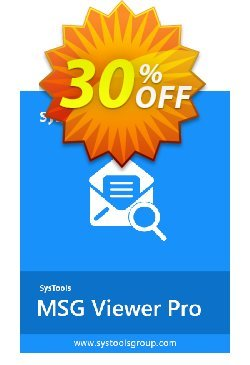 MSG File Viewer Pro Plus - Business License Coupon, discount SysTools coupon 36906. Promotion:
