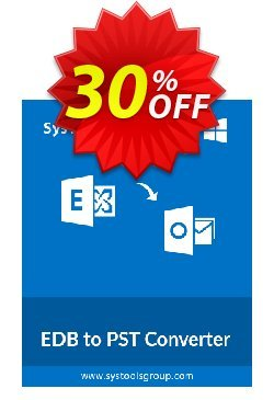 SysTools EDB to PST Converter - Corporate  Coupon discount SysTools coupon 36906. Promotion: