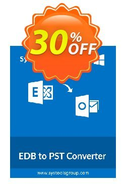 SysTools EDB to PST Converter - Enterprise  Coupon discount SysTools coupon 36906 -