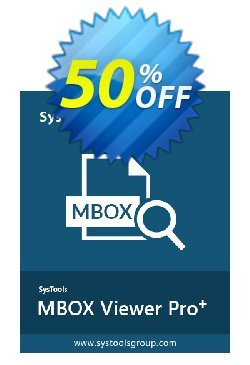 MBOX Viewer Pro Plus - 10 User License  Coupon discount SysTools coupon 36906 -