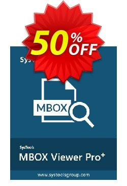 MBOX Viewer Pro Plus - 25 User License  Coupon discount SysTools coupon 36906 -