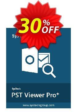 SysTools PST Viewer Pro+ Plus - 100 User License  Coupon discount SysTools coupon 36906 -