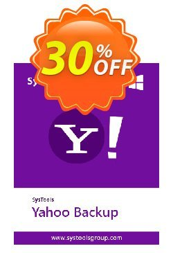 SysTools Yahoo Backup Tool - 25 Users  Coupon discount SysTools coupon 36906. Promotion: